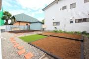 お庭をきれいに(畑と花壇の施工)